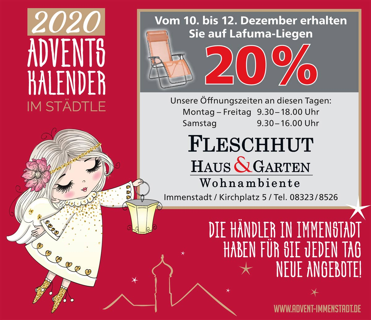 Adventskalender Fleschhut am 10.12.2020