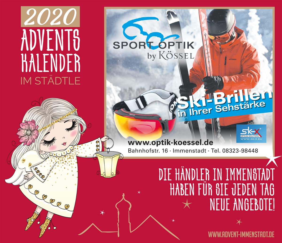 Adventskalender Optik Koessel am 08.12.2020
