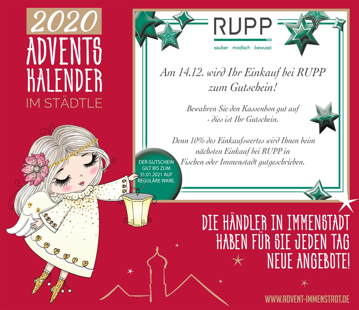 Adventskalender Rupp am 14.12.2020